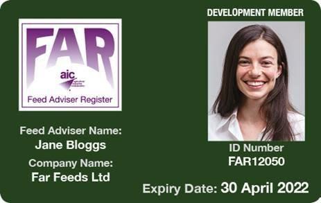 FAR development membership card