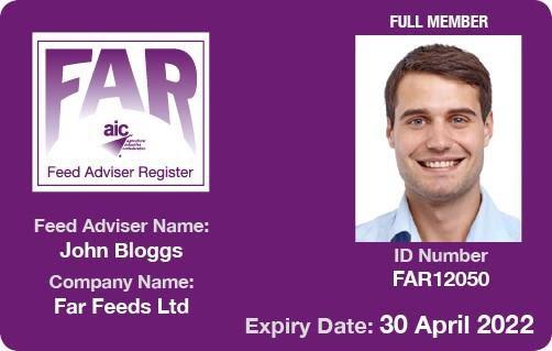 FAR full membership card